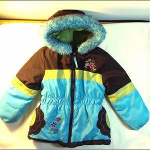 Rothschild Girls 4T Winter Puffer Jacket Faux Fur